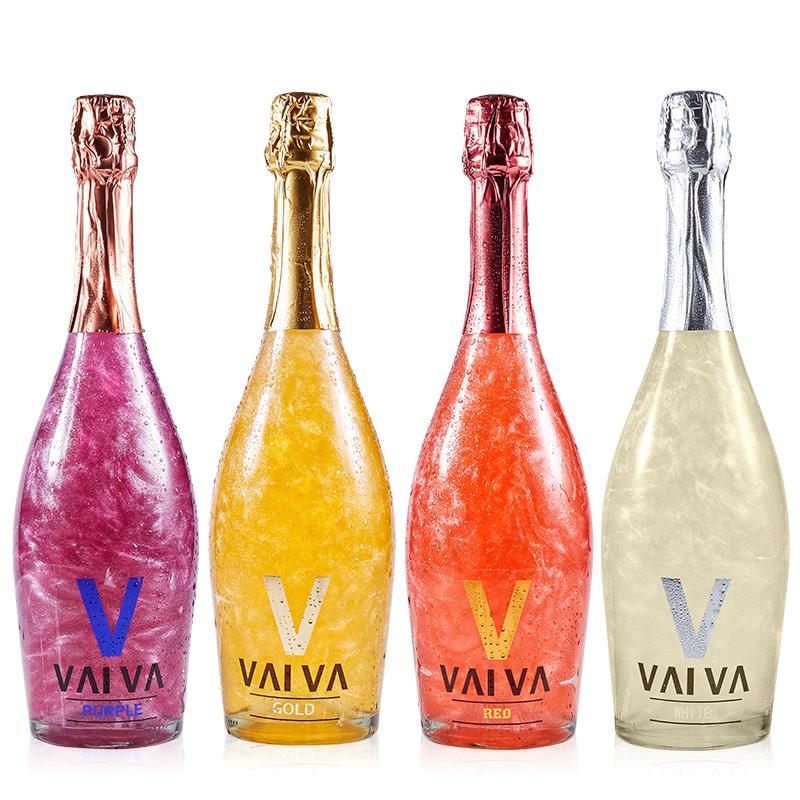 【付邮体验】4选1 单瓶750ml V魔幻云火焰星空起泡酒香槟甜型红酒