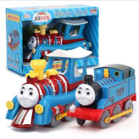 ⑫⑫托马斯☺授权声光音乐万向电动小火车儿童玩具